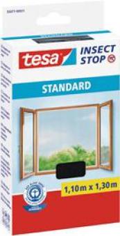tesa® Insect Stop Fliegengitter Klett Standard Fenster 1,1x1,3m anthr. Bild 1