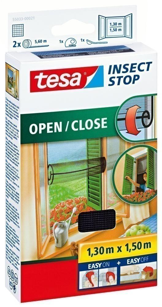 tesa® Insect Stop Open / Close Fliegengitter Klett 1,30 m x 1,50 m Bild 1
