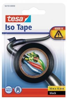tesa® Isolierband 10 m x 15 mm schwarz Blister Bild 1