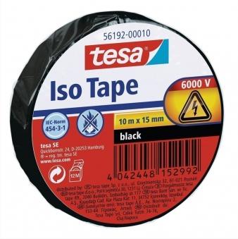 tesa® Isolierband 10 m x 15 mm schwarz Bild 1