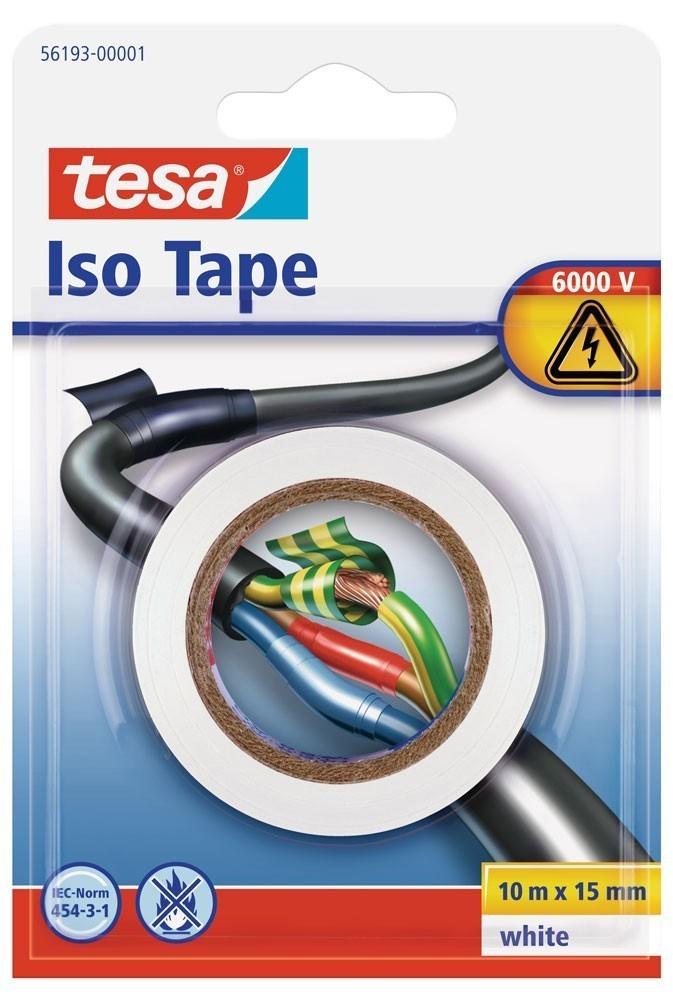 tesa® Isolierband 10 m x 15 mm weiss Blister Bild 1