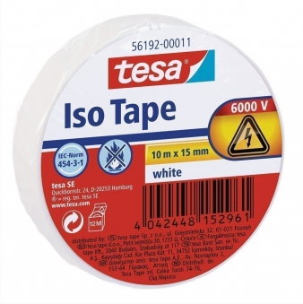 tesa® Isolierband 10 m x 15 mm weiss