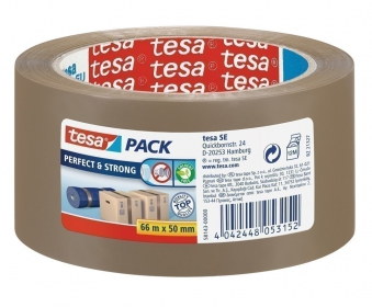 tesa® Klebeband / Packband Perfekt & Strong 66m 50mm braun Bild 1