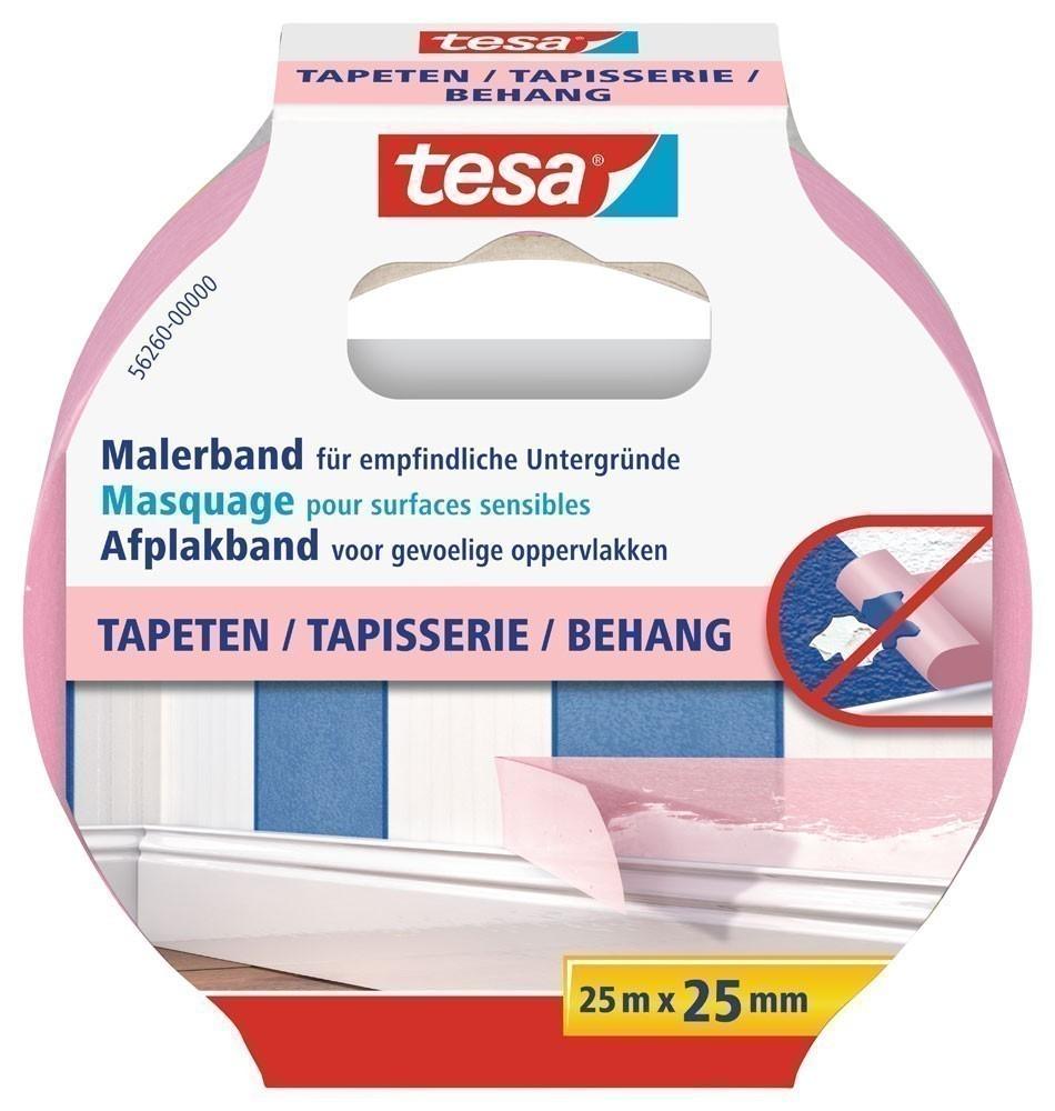 tesa® Malerband Tapeten 25 m x 25 mm Bild 1