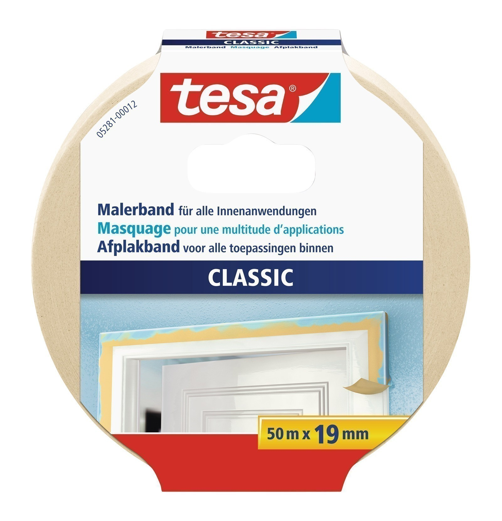 tesa® Malerkrepp Premium Classic 50 m x 50 mm Bild 1