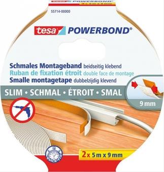 tesa® Montageband Powerbond schmal 5m x 9mm Bild 1