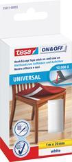 tesa® ON & OFF Klettband Universal Aufkleben & Aufnähen 20mm 1m weiß Bild 1