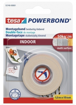 tesa® Powerbond Indoor 1,5 m x 19 mm