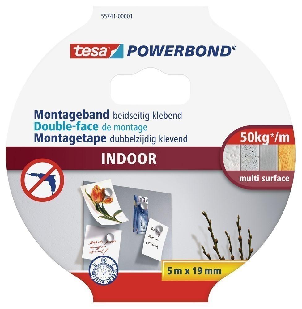 tesa® Powerbond Indoor 5 m x 19 mm Bild 1