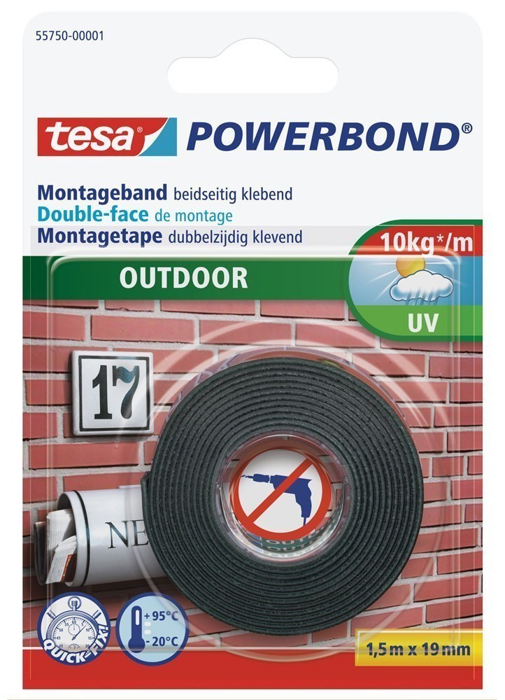 tesa® Powerbond Outdoor 1,5 m x 19 mm Bild 1