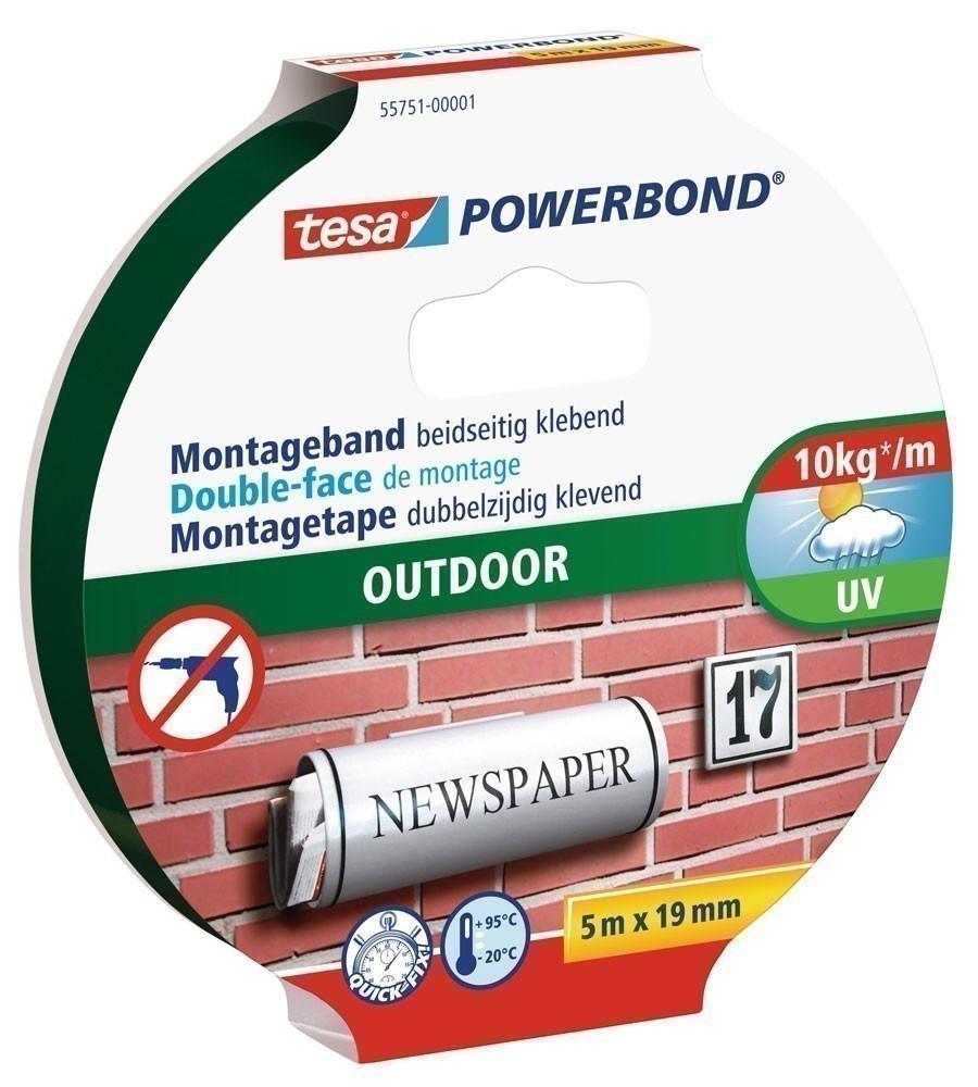 tesa® Powerbond Outdoor 5 m x 19 mm Bild 1