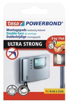 tesa® Powerbond Ultra Strong Pads 9 Stück 6 cm x 2 cm Bild 1