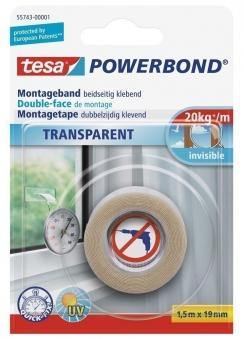 tesa® Powerbond transparent 1,5 m x 19 mm Bild 1