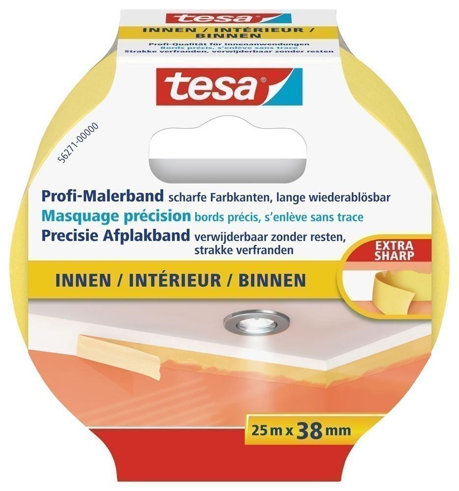 tesa® Profi-Malerband Innen 25 m x 38 mm Bild 1