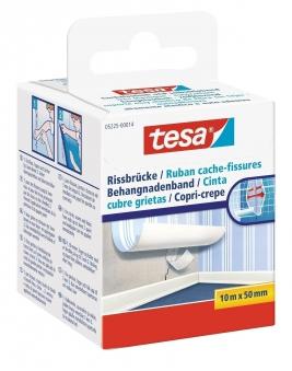 tesa® Rissbrücke Spezialvlies weiss 10 m x 50 mm Bild 1