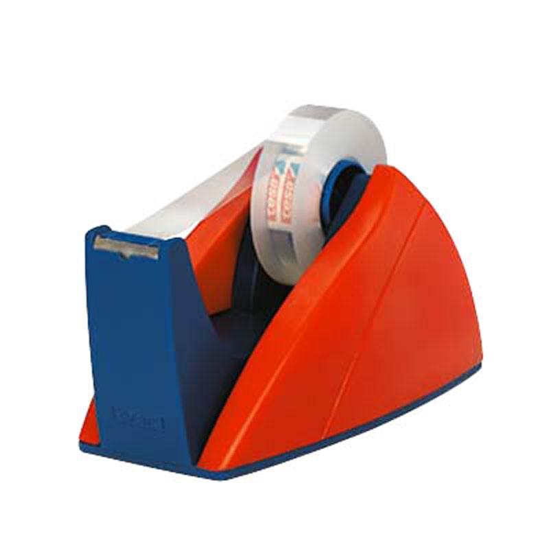 tesa® Tischabroller Easy Cut für Rollen bis 33m 19mm rot blau Bild 1