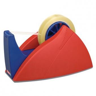 tesa® Tischabroller für Rollen bis 66m 25mm rot blau Bild 1