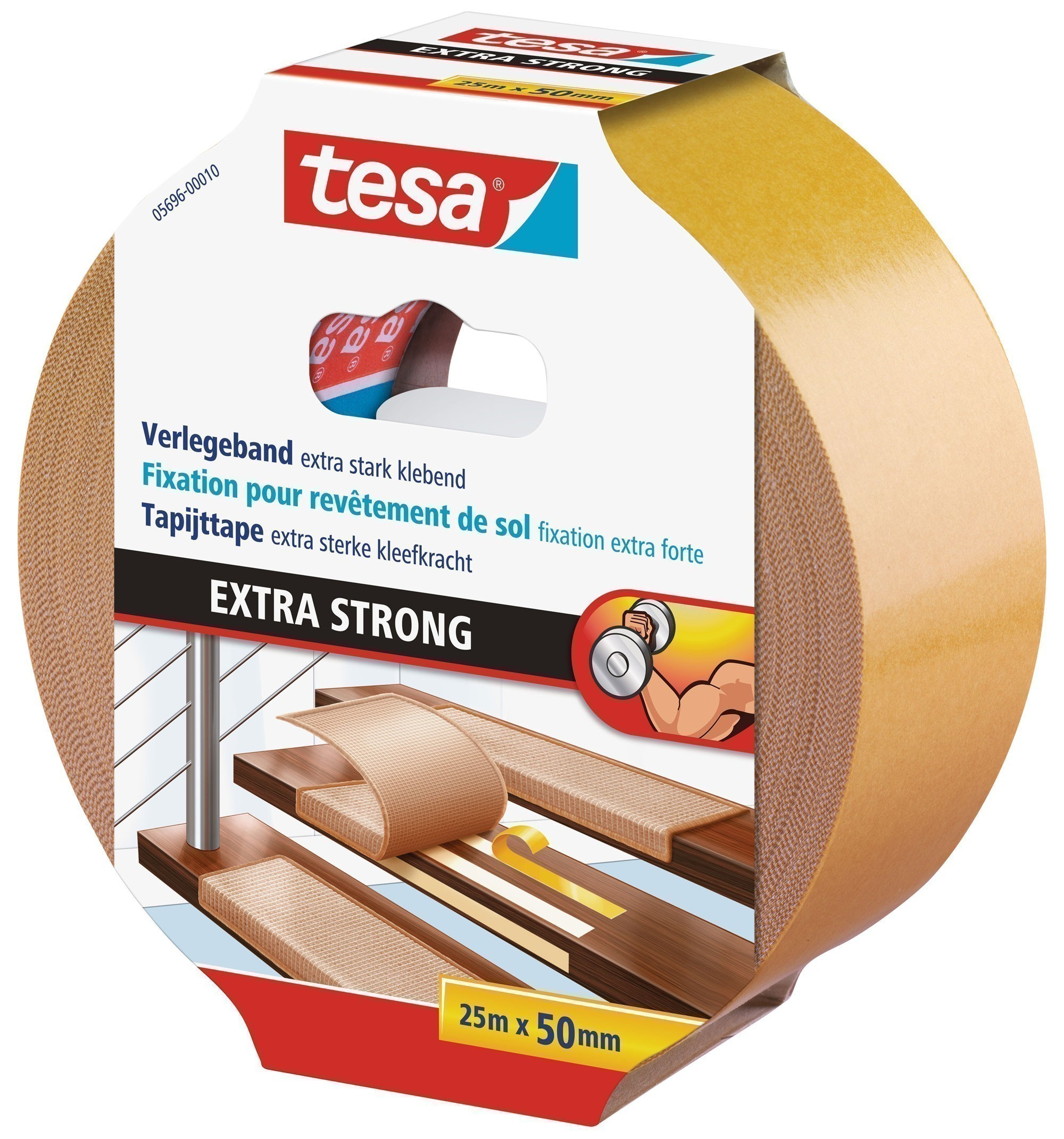 tesa® Verlegeband extra stark klebend 25 m x 50 mm Bild 1