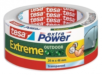 tesa® extra Power Extreme Outdoor 20 m x 48 mm transparent Bild 1