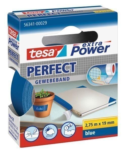 tesa® extra Power Perfect Gewebeband 2,75 m x 19 mm blau Bild 1