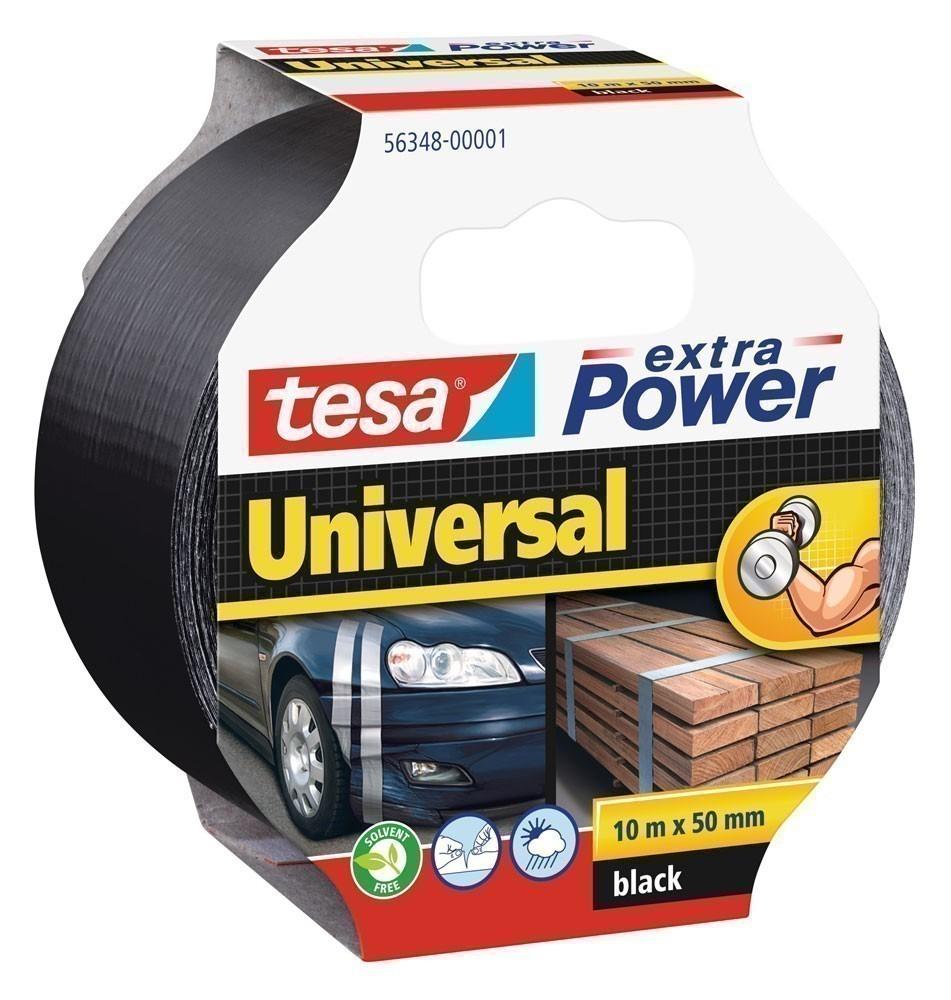 tesa® extra Power Universal Gewebeband 10 m x 50 mm schwarz Bild 1