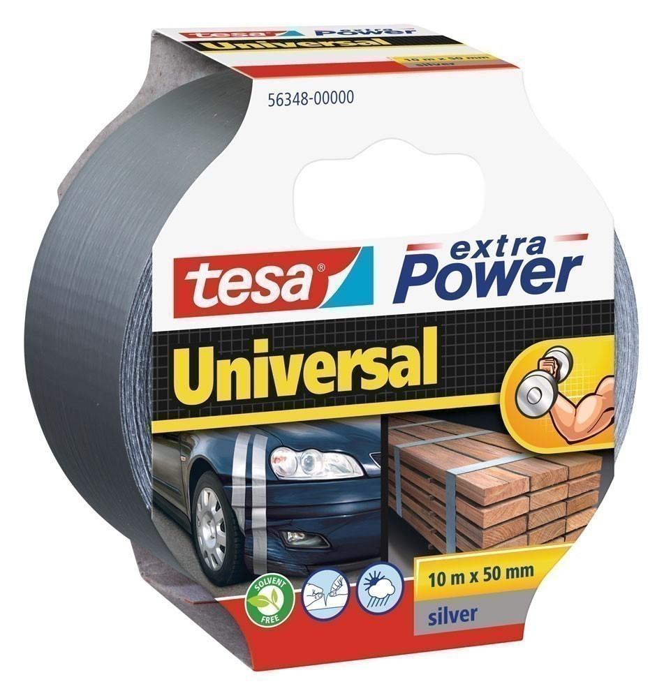 tesa® extra Power Universal Gewebeband 10 m x 50 mm silber Bild 1