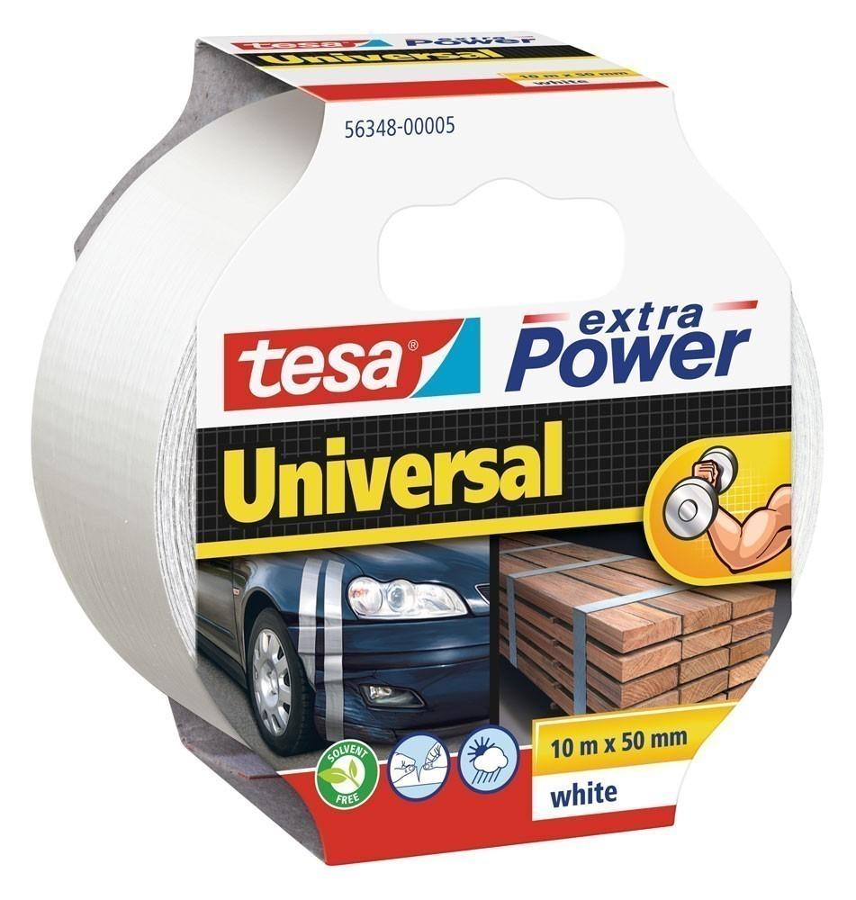 tesa® extra Power Universal Gewebeband 10 m x 50 mm weiss Bild 1