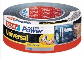 tesa® extra Power Universal Gewebeband 50 m x 50 mm silber Bild 1