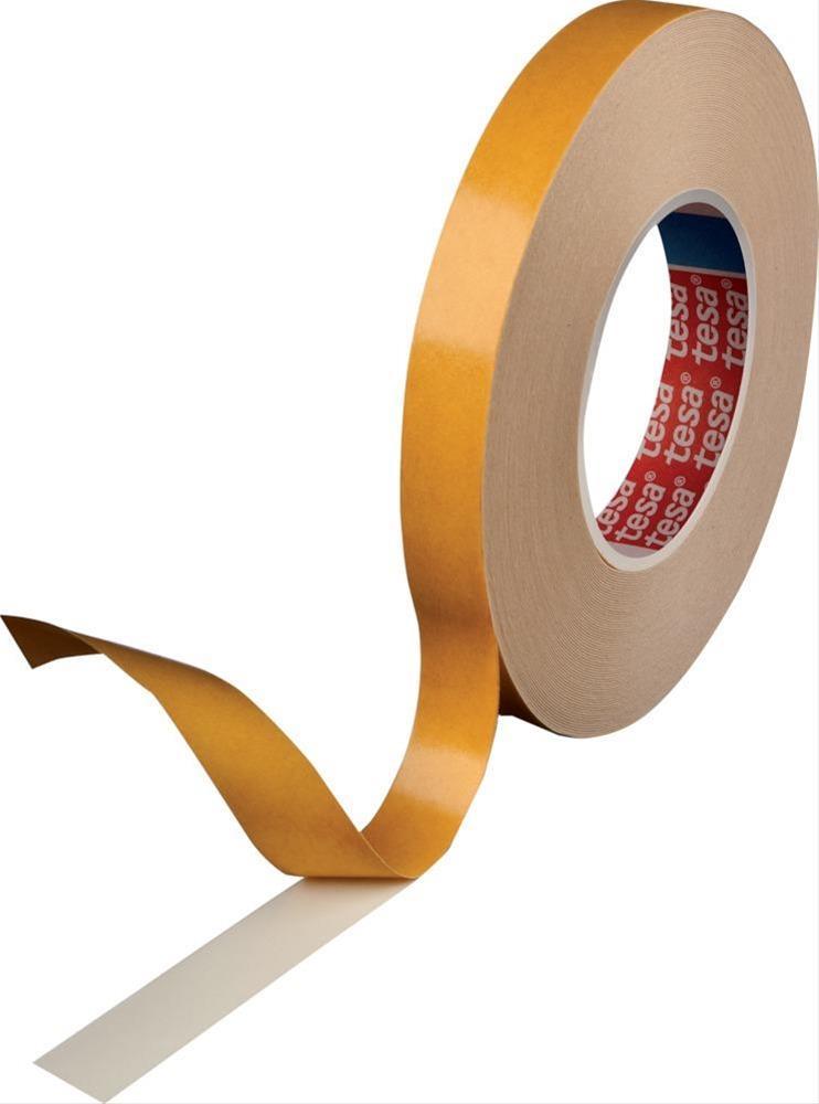 tesa® tesafix doppelseitiges Klebeband 50m x 12mm weiss Bild 1