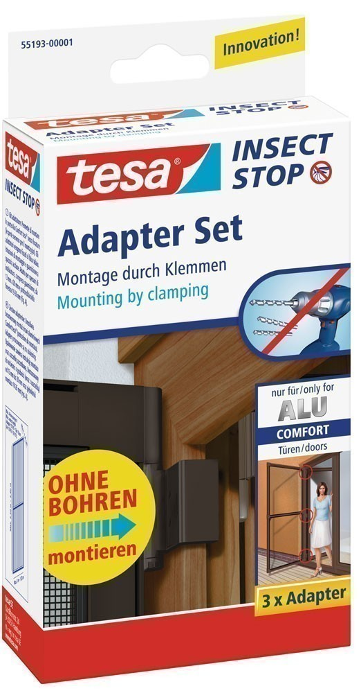 tesa insect stop adapter set f r alu comfort t r braun bei. Black Bedroom Furniture Sets. Home Design Ideas