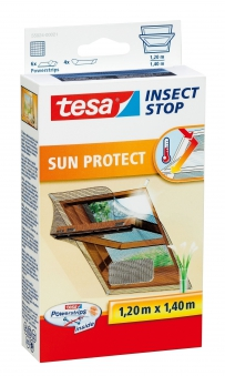 tesa Insect Stop Fliegengitter Sun Protect Dachfenster antr. 120x140cm