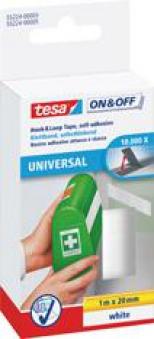 tesa Klettband zum Aufkleben weiß 1m:20mm Bild 1