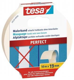 tesa Malerband PERFECT Malerkrepp für scharfe Farbkanten 50m:19mm Bild 1
