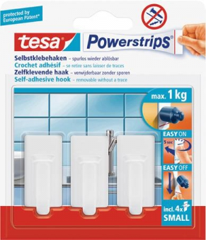tesa Powerstrips Haken Small Oval weiss
