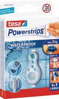 tesa Powerstrips Waterproof Large Inh. 6 Stück