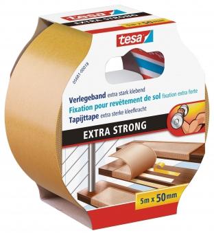 tesa Verlegeband EXTRA STRONG doppelseitiges Klebeband 5m:50mm Bild 1