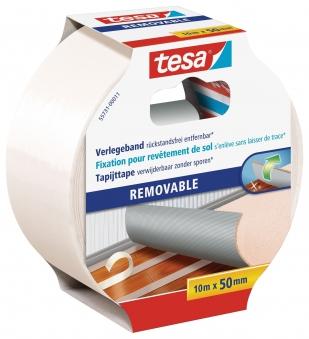 tesa Verlegeband REMOVABLE doppelseitiges Klebeband 10m:50mm Bild 1