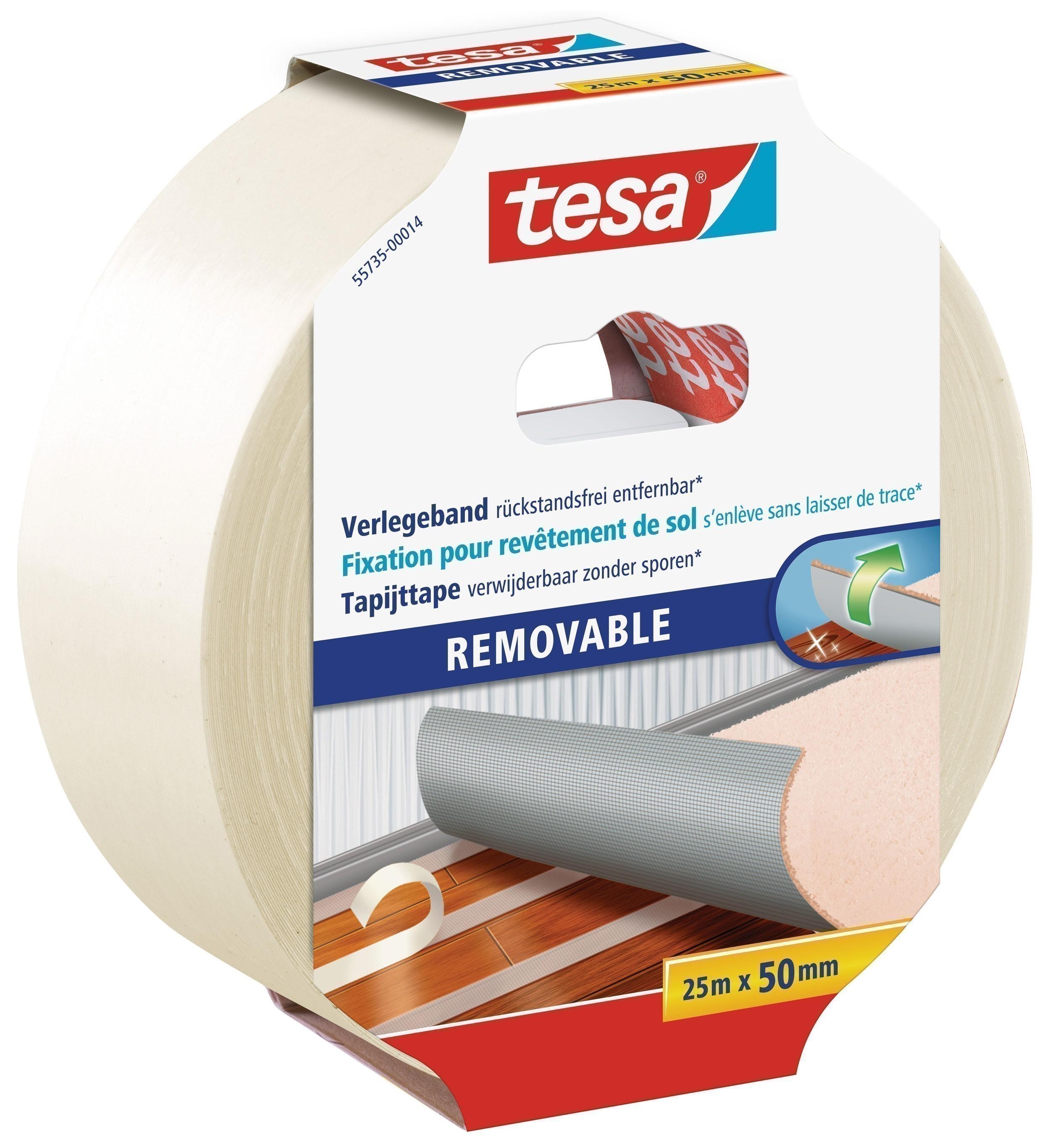 tesa Verlegeband REMOVABLE doppelseitiges Klebeband 25m:50mm Bild 1