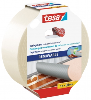 tesa Verlegeband REMOVABLE doppelseitiges Klebeband 5m:50mm
