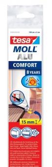 tesamoll® Comfort Türdichtschiene für unebene Böden silber 1m x 40mm Bild 1
