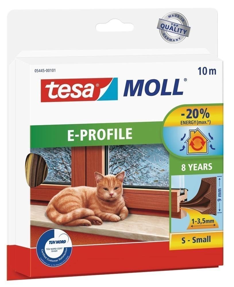 tesamoll® E-Profil Gummidichtung 9 mm x 10 m braun Bild 1