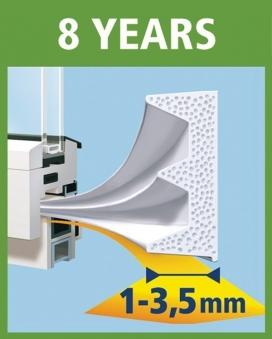 tesamoll® E-Profil Gummidichtung 9 mm x 10 m weiß Bild 2
