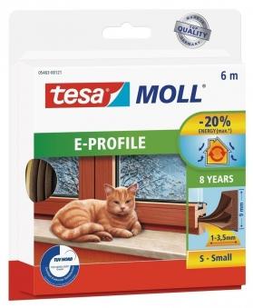 tesamoll® E-Profil Gummidichtung 9 mm x 6 m braun Bild 1