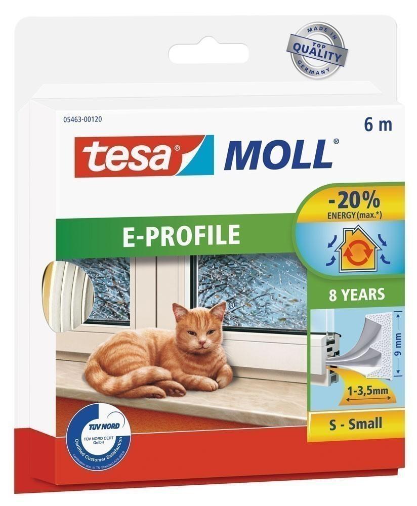 tesamoll® E-Profil Gummidichtung 9 mm x 6 m weiß Bild 1
