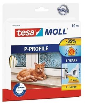 tesamoll® P-Profil Gummidichtung 9 mm x 10 m weiß Bild 1