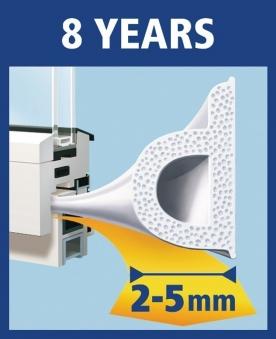 tesamoll® P-Profil Gummidichtung 9 mm x 10 m weiß Bild 2