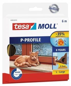 tesamoll® P-Profil Gummidichtung 9 mm x 6 m braun Bild 1