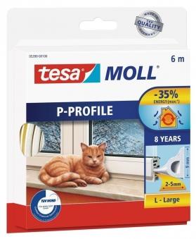 tesamoll® P-Profil Gummidichtung 9 mm x 6 m weiß Bild 1