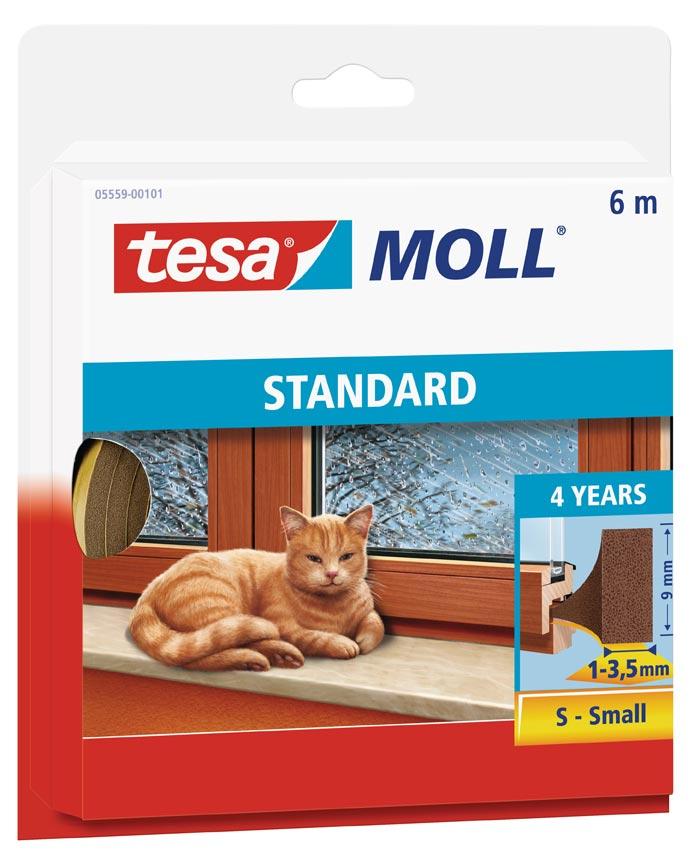 tesamoll® Standard I-Profil Schaumstoffdichtung 9 mm x 6 m braun Bild 1