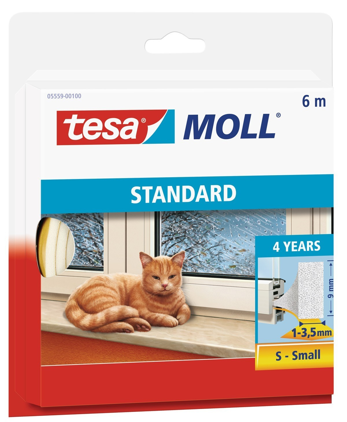 tesamoll® Standard I-Profil Schaumstoffdichtung 9 mm x 6 m weiß Bild 1